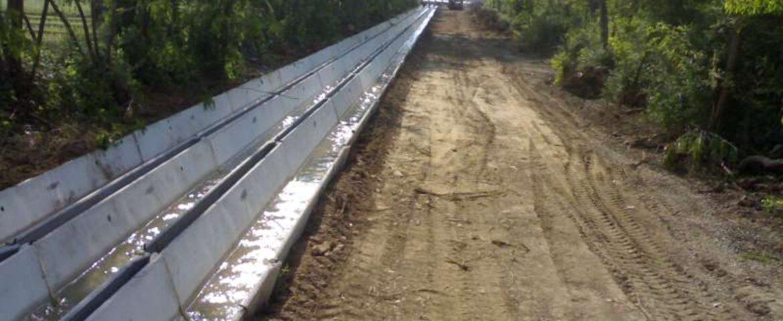 Costruzione canali irrigazione